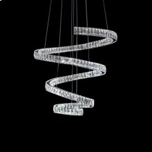 bring A Dynamic Atmosphere Into Any Room With the Crystal Spring Chandelier. With A Stunning Spiral of Double Walled Cut Glass, Dimmable LED Lights, and Adjustable Lines, Your Home Just Got an Instant UPGRADE.