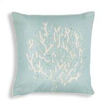 """L271 Aqua Coral Reef Pillow 18"""" X 18"""""""
