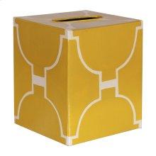 Kleenex Box Yellow and Cream Pattern.
