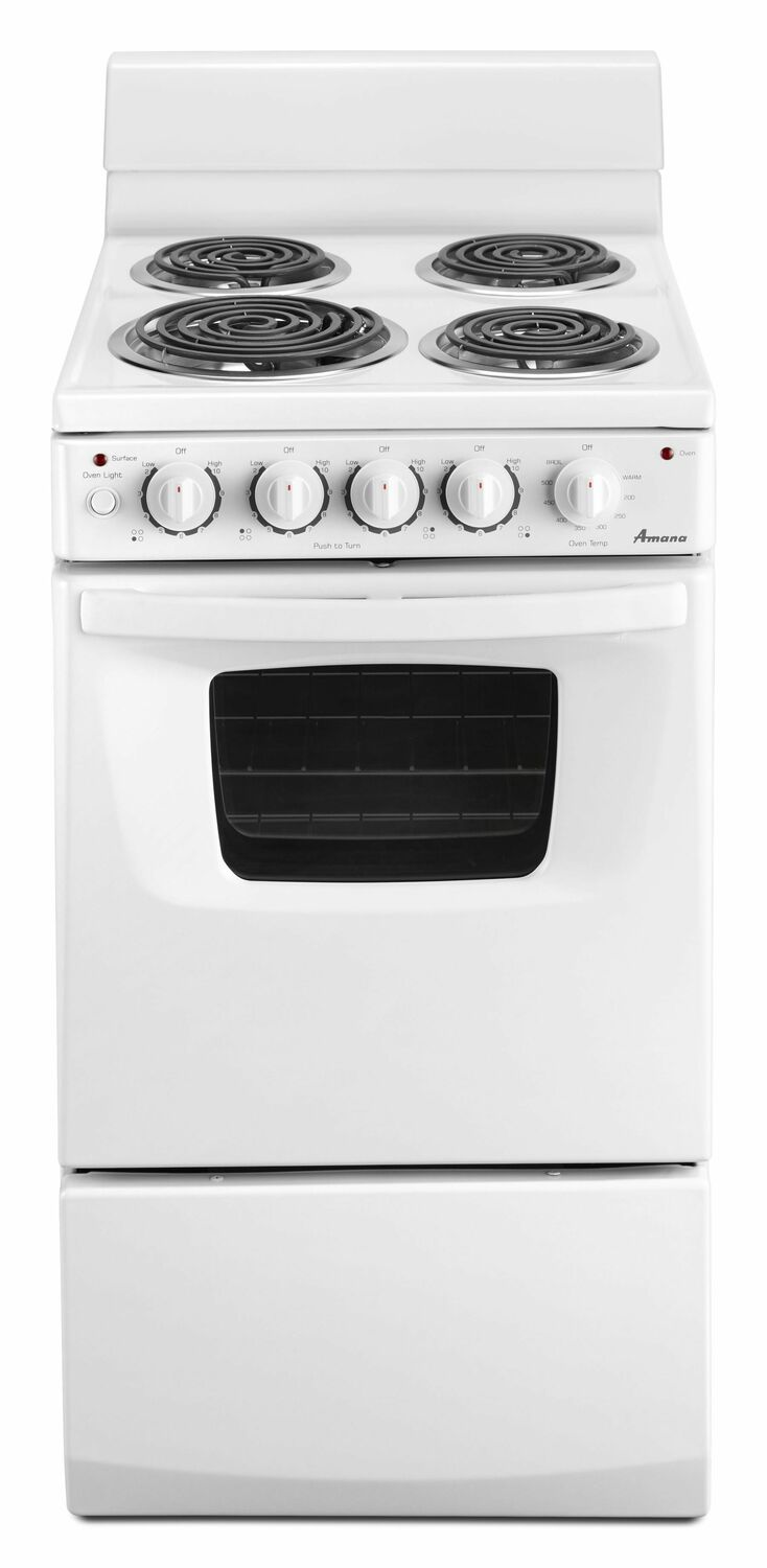 [SCHEMATICS_48ZD]  AEP222VAW Amana 20-inch Electric Range Oven with Versatile Cooktop - White  WHITE - Manuel Joseph Appliance Center | Amana Electric Range Wiring Diagram |  | Manuel Joseph Appliance Center