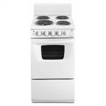 20-inch Electric Range Oven with Versatile Cooktop - White