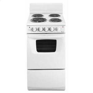 Amana20-inch Electric Range Oven with Versatile Cooktop - White