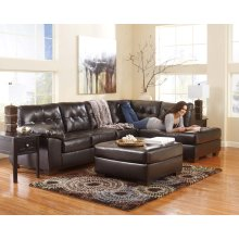 Alliston DuraBlend® - Chocolate 2 Piece Sectional with free Ottoman