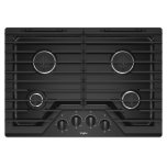 Whirlpool30-inch Gas Cooktop with EZ-2-Lift Hinged Cast-Iron Grates