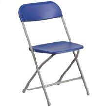 650 lb. Capacity Premium Blue Plastic Folding Chair