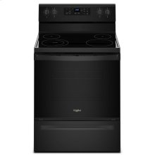 5.3 cu. ft. Freestanding Electric Range with Adjustable Self-Cleaning Black