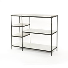 Hammered Grey Finish Lily Console Table