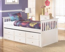 Lulu Twin Captain's Bed with Trundle