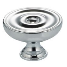 Classic Cabinet Knob in US26 (Polished Chrome Plated)