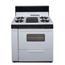 36 in. Freestanding Battery-Generated Spark Ignition Gas Range in White