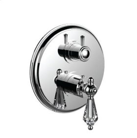 """1/2"""" Thermostatic Trim With 3-way Diverter Trim (shared Function) in Antique Copper"""
