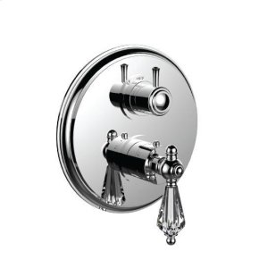 "1/2"" Thermostatic Trim With 3-way Diverter Trim (shared Function) in Satin Chrome"