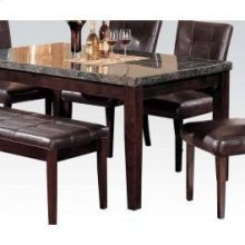 Din. Table W/black Marble Top