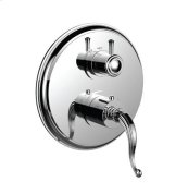 """1/2"""" Thermostatic Trim With Volume Control and 3-way Diverter in Polished Chrome"""