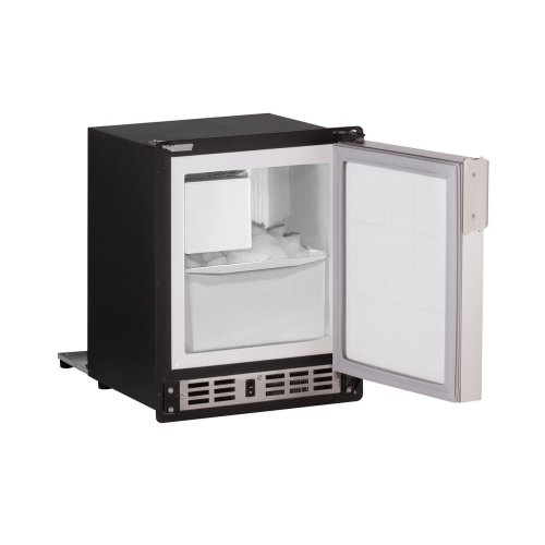 """Marine Series 15"""" Marine Crescent Ice Maker With Black Solid Finish and Field Reversible Door Swing (220-240 Volts / 50 Hz)"""