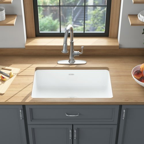 Delancey 30x19-inch Cast Iron Kitchen Sink  American Standard - Brilliant White