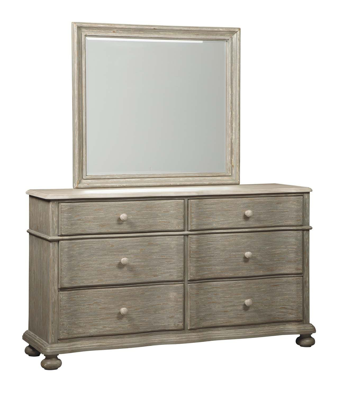 Marleny   Gray/Whitewash 2 Piece Bedroom Set