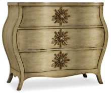 Living Room Sanctuary Three Drawer Bombe Chest