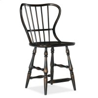 Dining Room Ciao Bella Spindle Back Counter Stool-Black Product Image