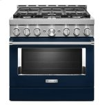 KitchenaidKitchenAid(R) 36'' Smart Commercial-Style Gas Range with 6 Burners Ink Blue