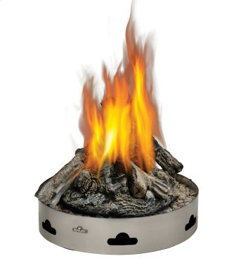 Napoleon Patioflame(R) outdoor gas firepit with logs.
