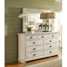 Drawer Dresser - Distressed White Finish