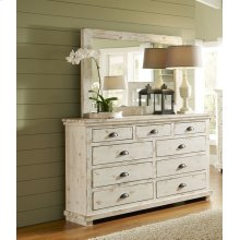 Drawer Dresser - Distressed White Finish
