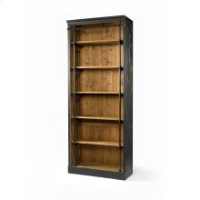 Without Ladder Size Matte Black Finish Ivy Bookcase