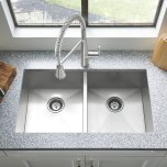 "American StandardEdgewater 33x22"" ADA Double Bowl Stainless Steel Kitchen Sink  American Standard - Stainless Steel"
