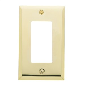 Polished Brass Beveled Edge Single GFCI Product Image