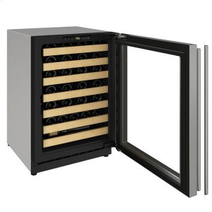 "U-Line24"" Wine Refrigerator With Stainless Frame Finish and Field Reversible Door Swing (115 V/60 Hz Volts /60 Hz Hz)"