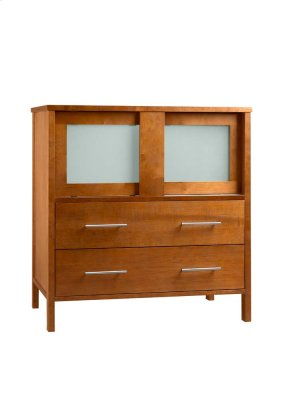 "Minerva 31"" Bathroom Vanity Base Cabinet in Cinnamon Product Image"