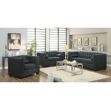 Cairns Transitional Charcoal Three-piece Living Room Set