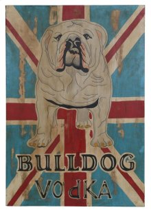 Wall Art Bulldog Vodka