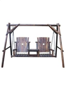 Char-Log Double Swing with Tray