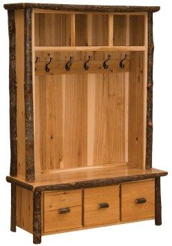 Hickory Entry Locker Unit - Rustic Alder