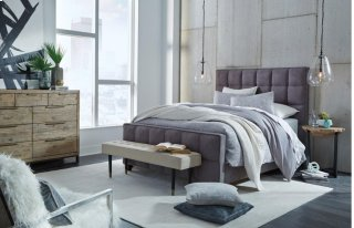 Loft Bed Queen Drk Gray