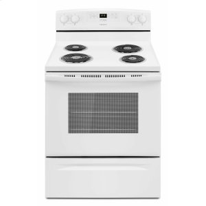 Amana30-inch Electric Range with Bake Assist Temps - White