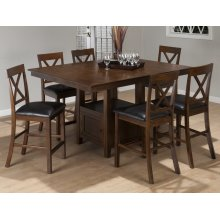 Olsen Oak Counter Height Table With Eight Stools