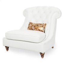 Damario Tufted Chair and A Half In White Gold