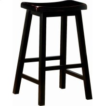 Transitional Black Bar-height Stool