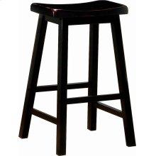 Transitional Black Bar-height Stool