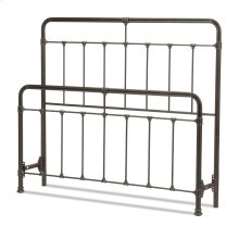 Fairfield Metal Headboard and Footboard Bed Panels with Spindles and Intricate Castings, Dark Roast Finish, California King