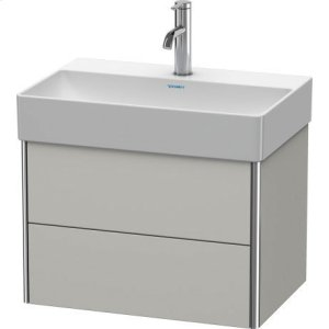 Vanity Unit Wall-mounted Compact, Concrete Gray Matt Decor