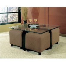 Contemporary Square Glass Coffee Table
