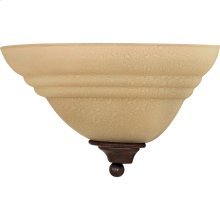 """1-Light 13"""" Wall Sconce in Old Bronze Finish with Amber Water Glass"""