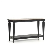 Room Glennwood Sofa Back Table  Black & Charcoal