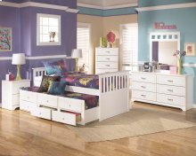 Lulu - White 7 Piece Bedroom Set