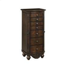 Traditional Brown Red Jewelry Armoire