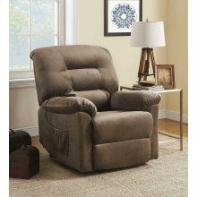 Casual Brown Sugar Power Lift Recliner